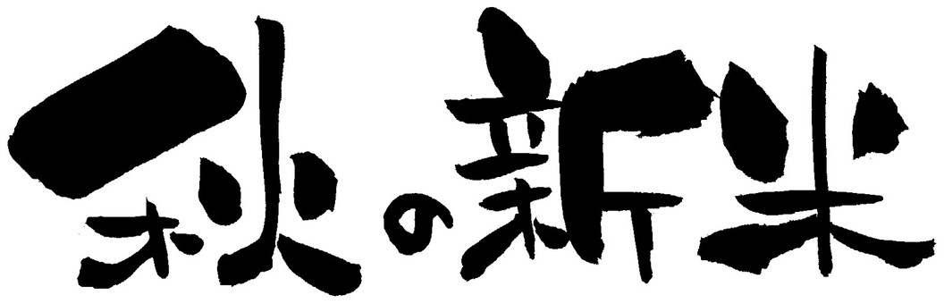 "Brush character ""Fall Bless New Year"" sideways"