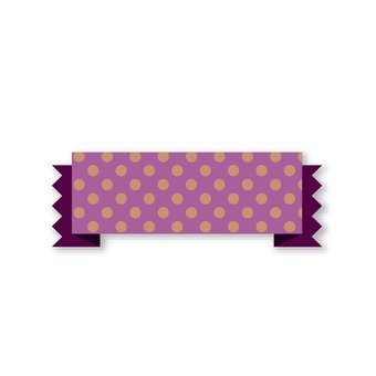 Polka dotted ribbon (purple)