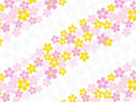 Pink and yellow cherry background · Wallpaper