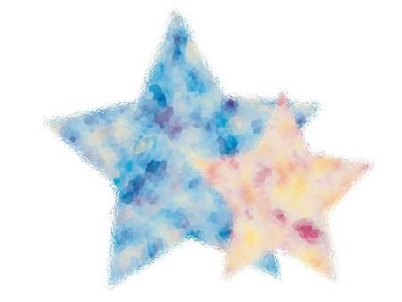 Watercolor color star