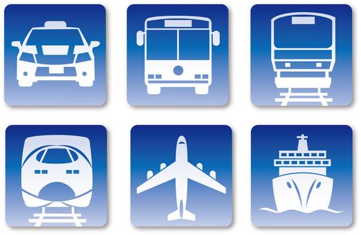 Public Transportation icon Blue Grade