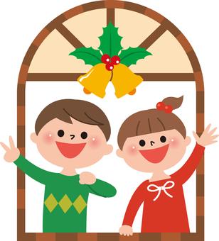 Christmas at window side