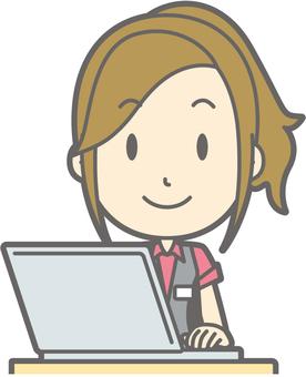 Pachi girls clerk - PC smile - bust