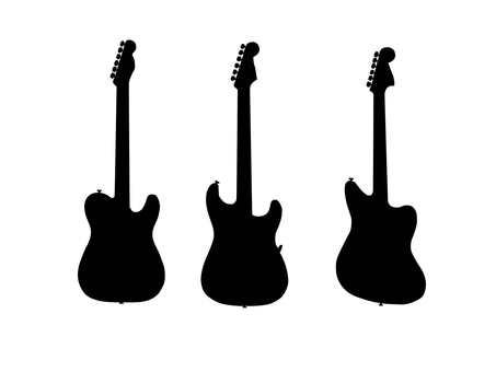 기타의 실루엣 1