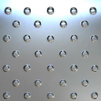 Metal plate - silver