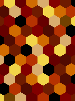 Geometric pattern background material / red