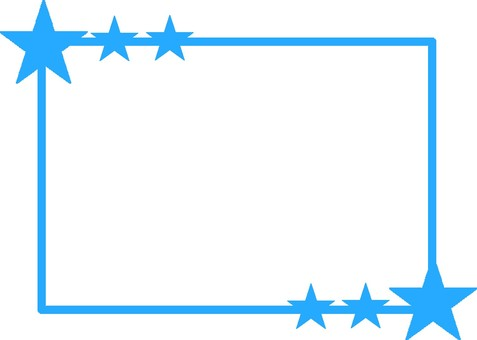 Light blue star frame