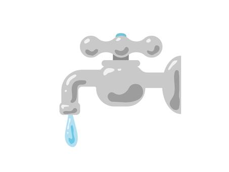 蛇口から落ちる水 節水