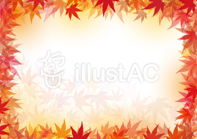 紅葉もみじ秋背景素材テクスチャ壁紙飾りイラスト No 532220 無料