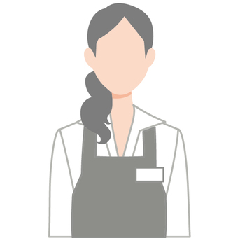 Cafe clerk icons Apron