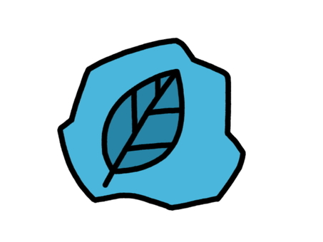 化石葉 青