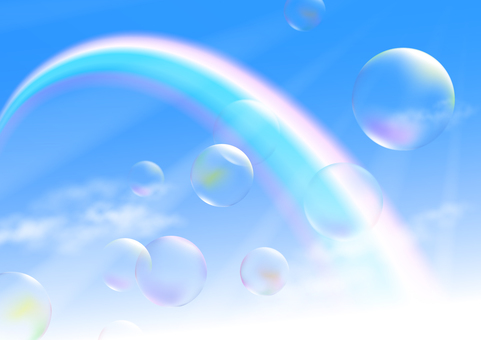Rainbow and soap bubbles