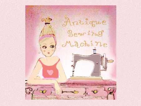 Girls and sewing machines
