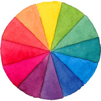 Hue circle (watercolor illustration)