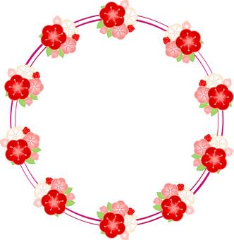 Fashionable plum ring frame 03