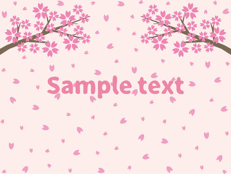 Cherry blossom background material (without png characters)