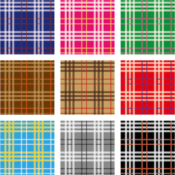 Tartan check style pattern material