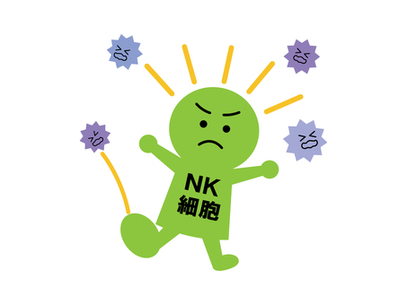NK 세포의 일러스트