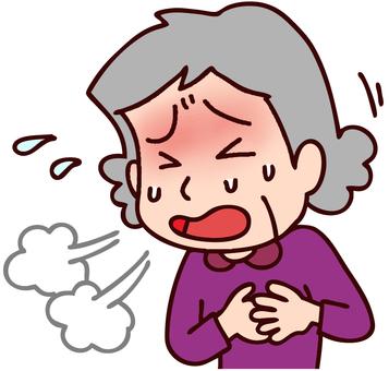 一個女性的心悸和氣短的例證