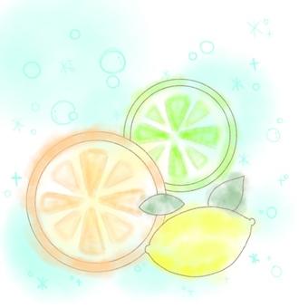 Orange and lime and lemon
