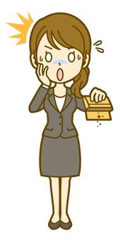 Female (office worker): C_ money 01FS