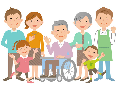 60124. Wheelchair, Family and Caregiver