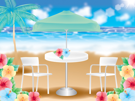 Palm trees and chairs
