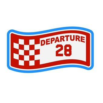 Patch - DEPARTURE / 28 (red)