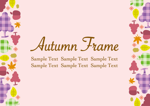Autumn fruit frame_A02