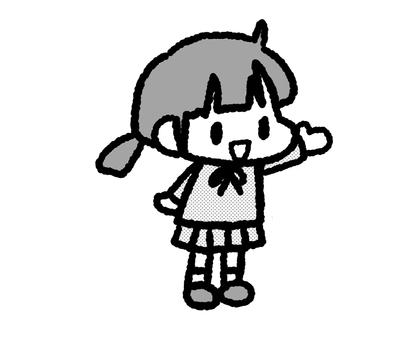 Children girls monochrome 3