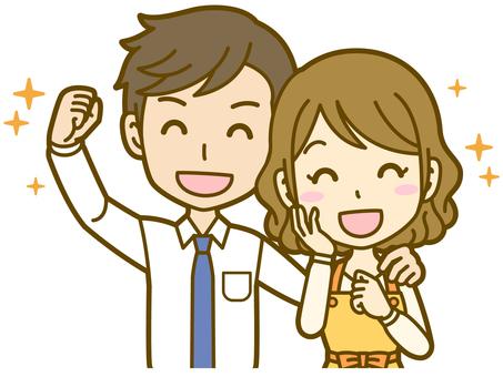 Male and female (couple): A_ pleasure 01BS