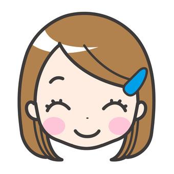 미소 여자 여자