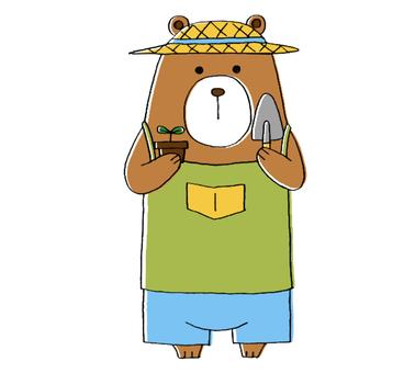 Bear, gardening