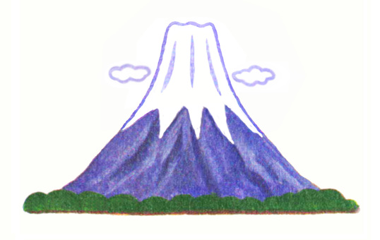 Mt.Fuji of old-fashioned style