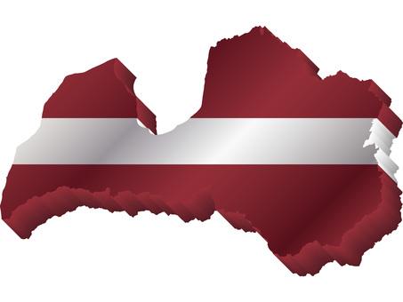 ラトビア国旗国土