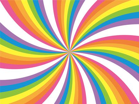 Loose swirl (rainbow)