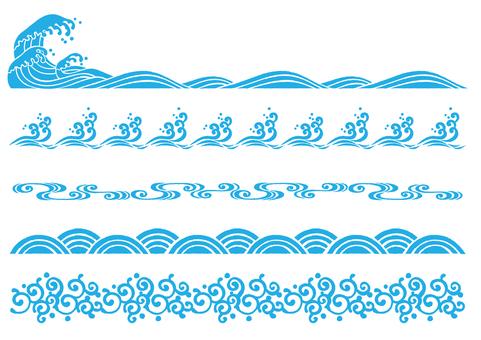 Wave pattern line
