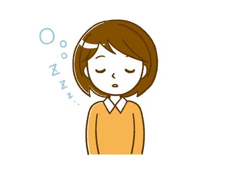 자고있는 여자