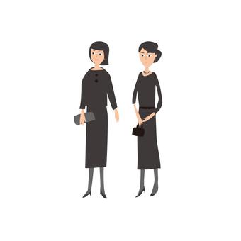 Family women mourning 1