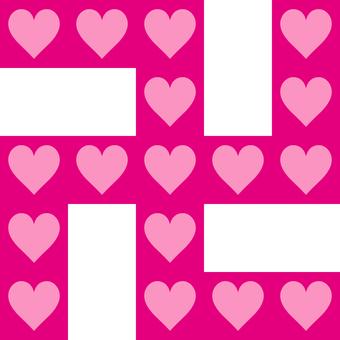 Swastika _ Heart _ pink