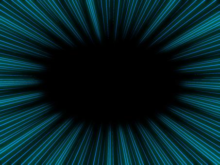 Concentration line black on blue