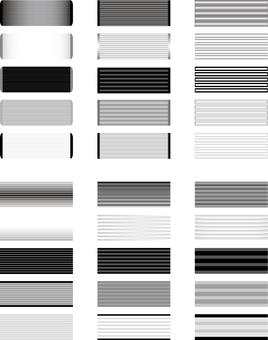 Horizontal title frame Monochrome series 3