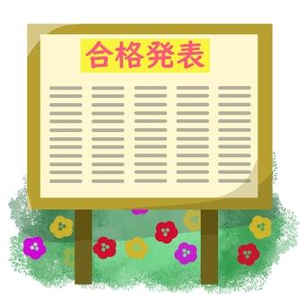 Bulletin board of successful announcement ②