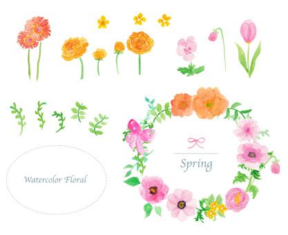 Spring flower frame material