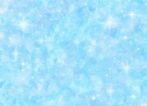閃閃發光的美麗背景畫(藍色)