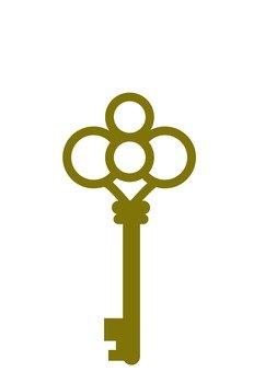 Antique key (gold)
