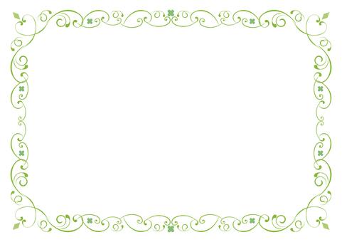 Green floral frame (Ver.8)
