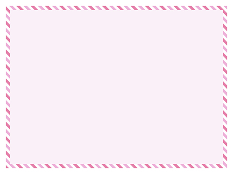 Message Card Stripe Pink