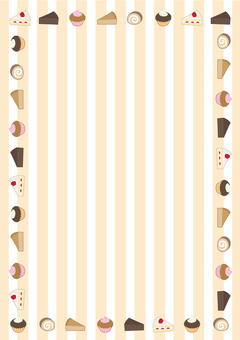 Frames of various cakes (vertical)
