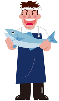 Various occupations - Fishmonger (whole body)